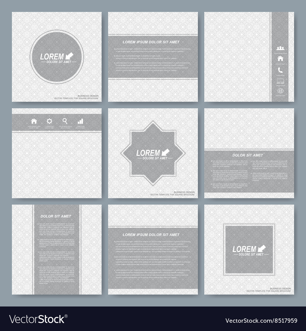 Square Brochure Cover Vector Image