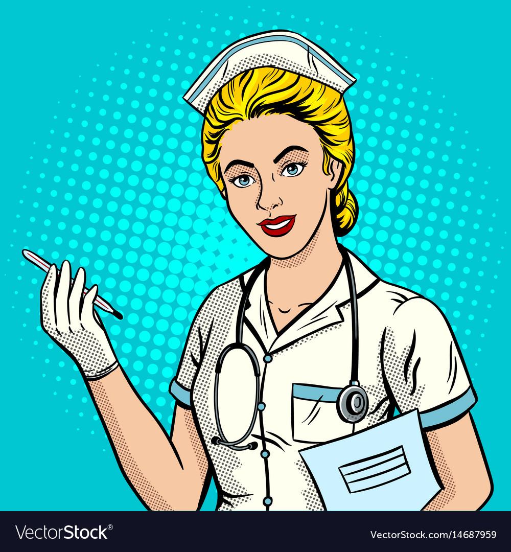 Nurse pop art style