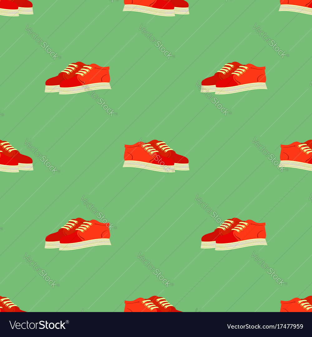 Sport red shoes seamless pattern