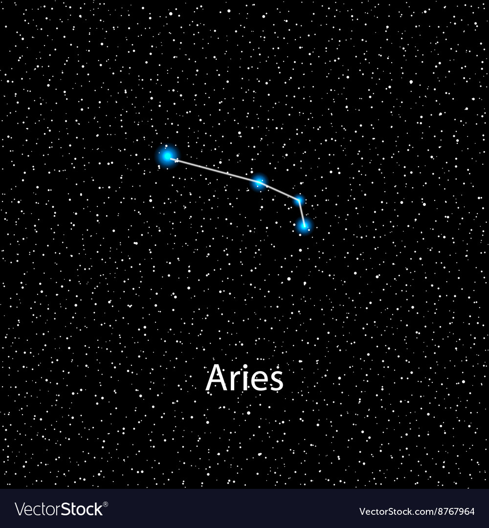 7ad3edd5d Aries Zodiac sign bright stars Royalty Free Vector Image