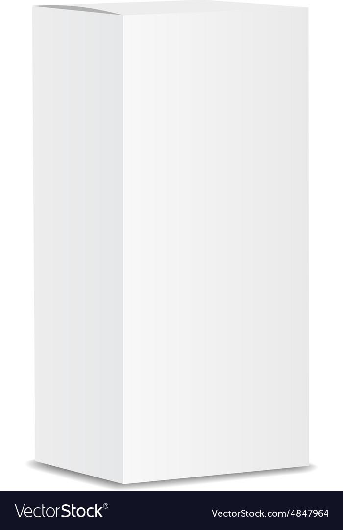 Blank vertical paper or cardboard box template