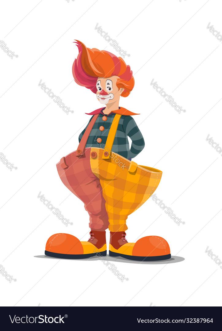 Clown big top circus shapito clown in big pants