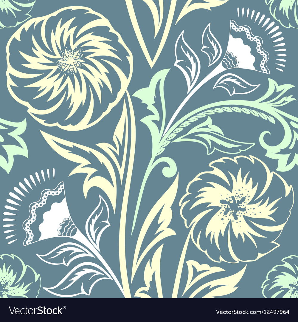 Ethnic Floral Seamless Pattern8