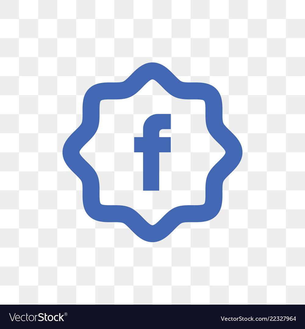 Facebook social media icon design template vector image maxwellsz