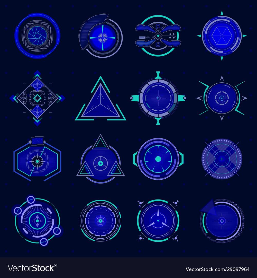 Futuristic optical aim ui technology aiming