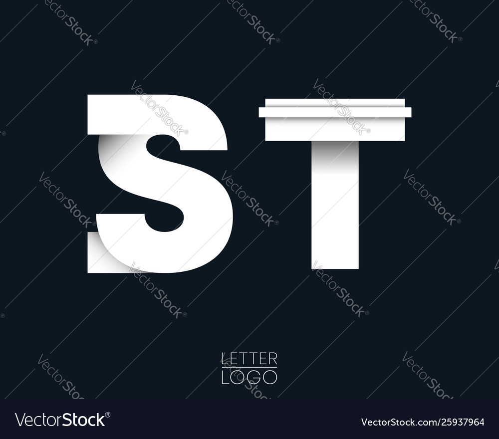 Letter s and t template logo design