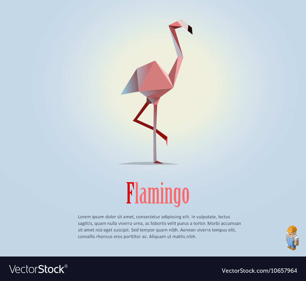 Pink flamingo wild animal modern icon