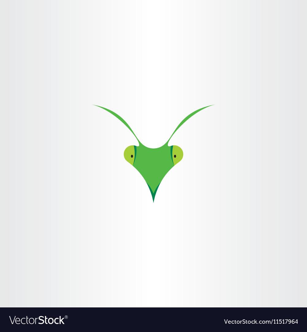 Praying mantis icon clip art