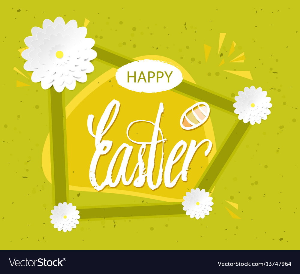 Quote happy easter day background design the