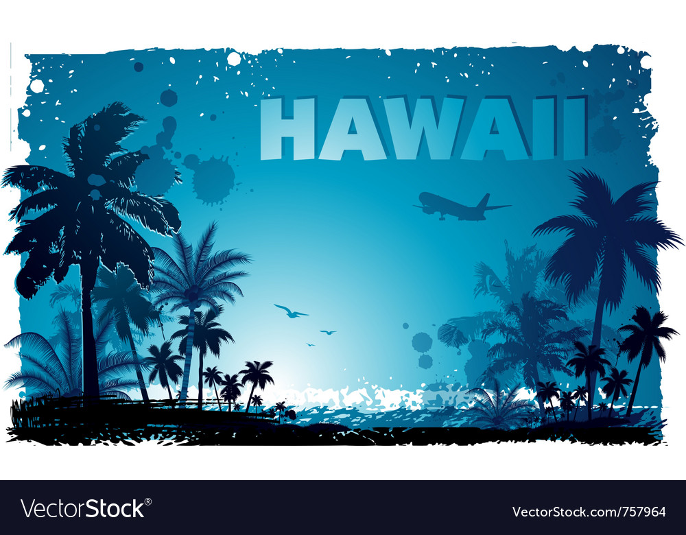 Tropical hawaiian background vector image