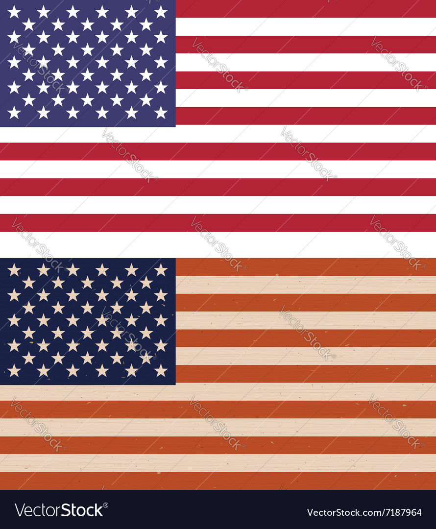 Two variants of American flags