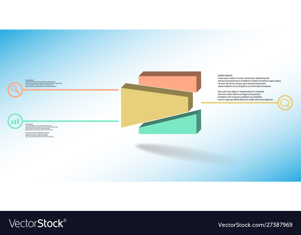 3d infographic template with embossed
