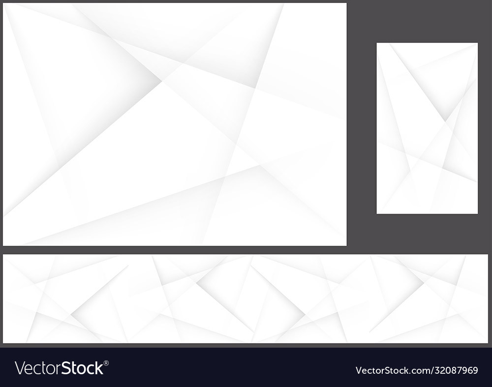 Abstract gray polygonal corporate background set