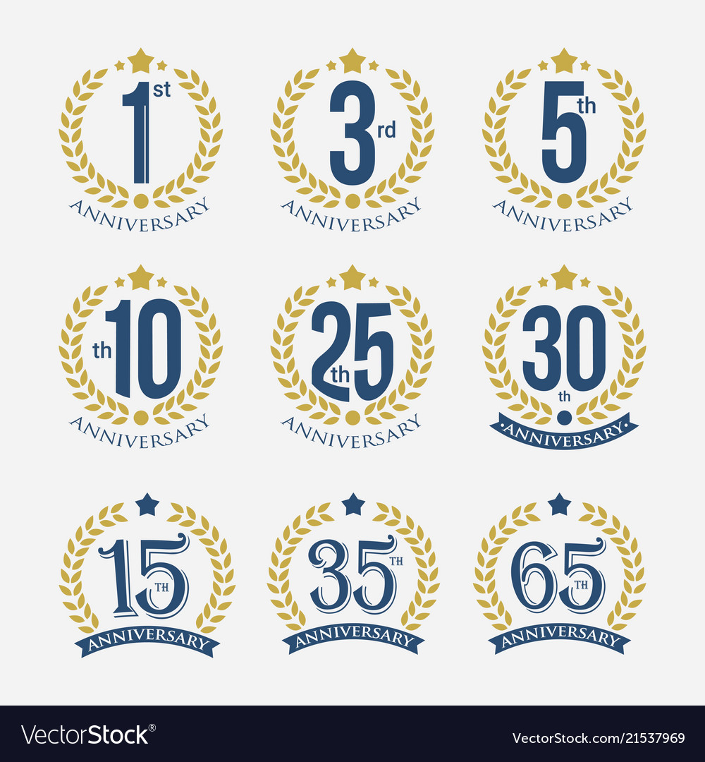 anniversary badge template royalty free vector image