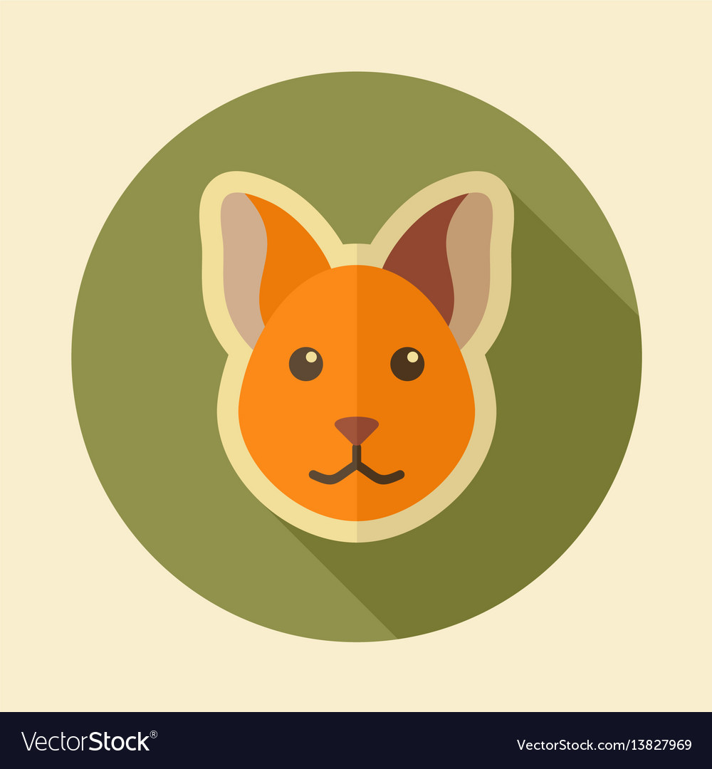 Cat flat icon animal head vector image