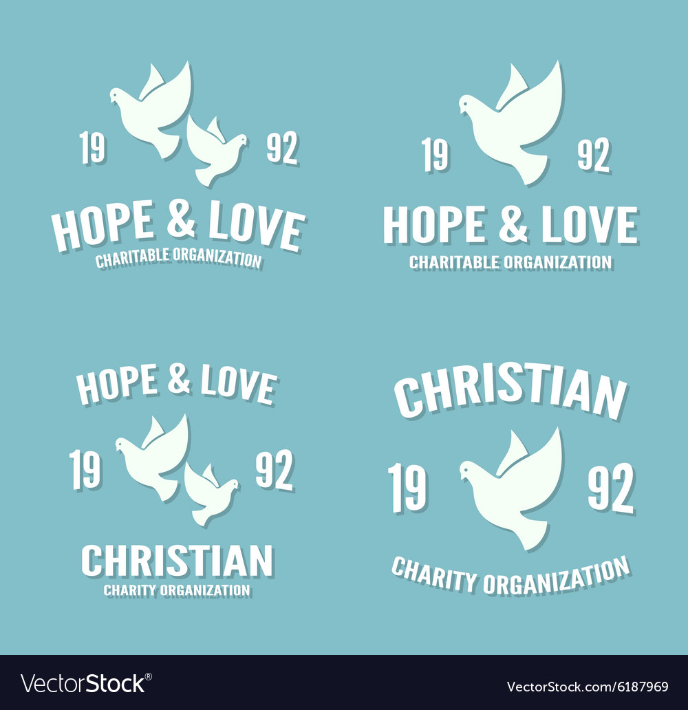 Dove logo or icon hope and love poster