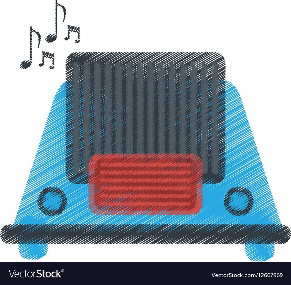 Drawing radio music communication device
