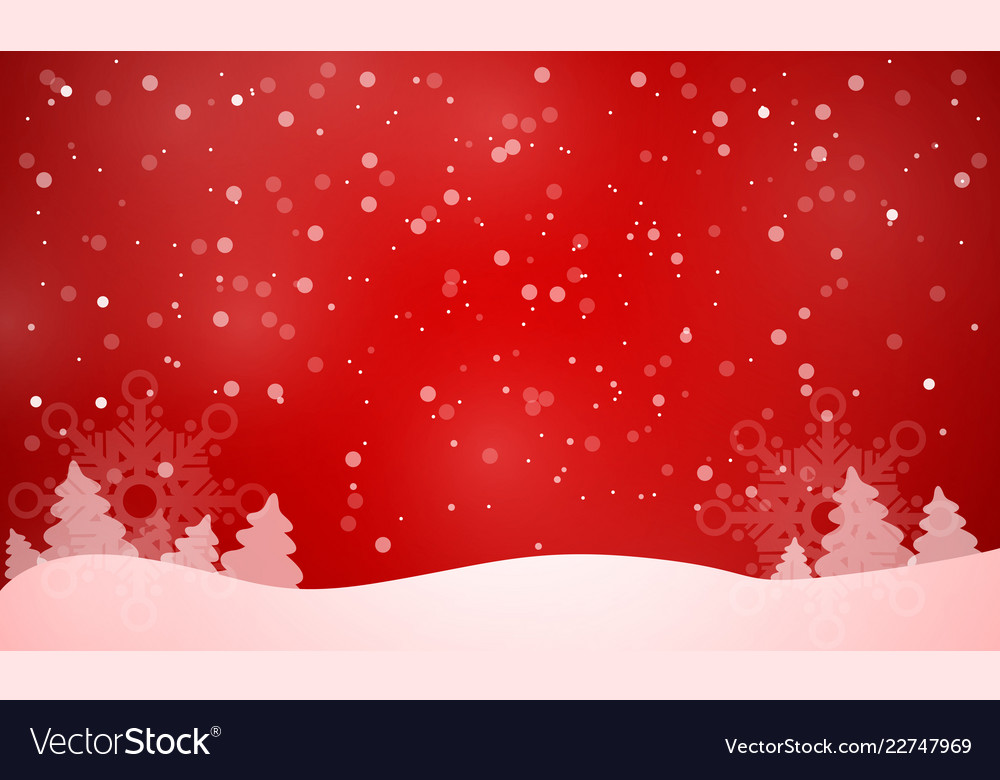 Elegant christmas red background