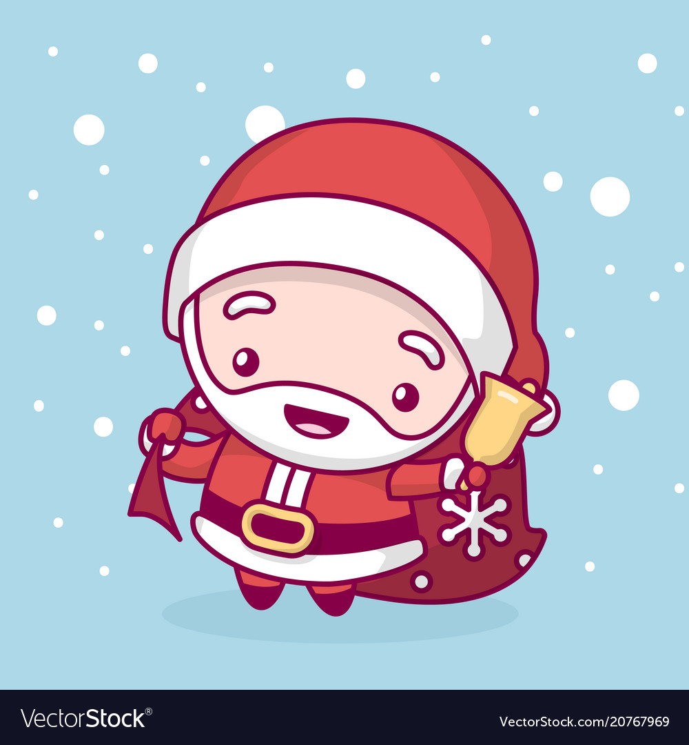 Merry Christmas Cute Kawaii Character