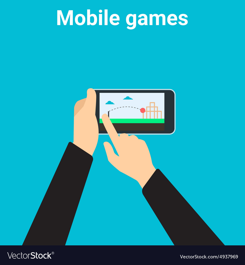 Mobile Gaming Vector