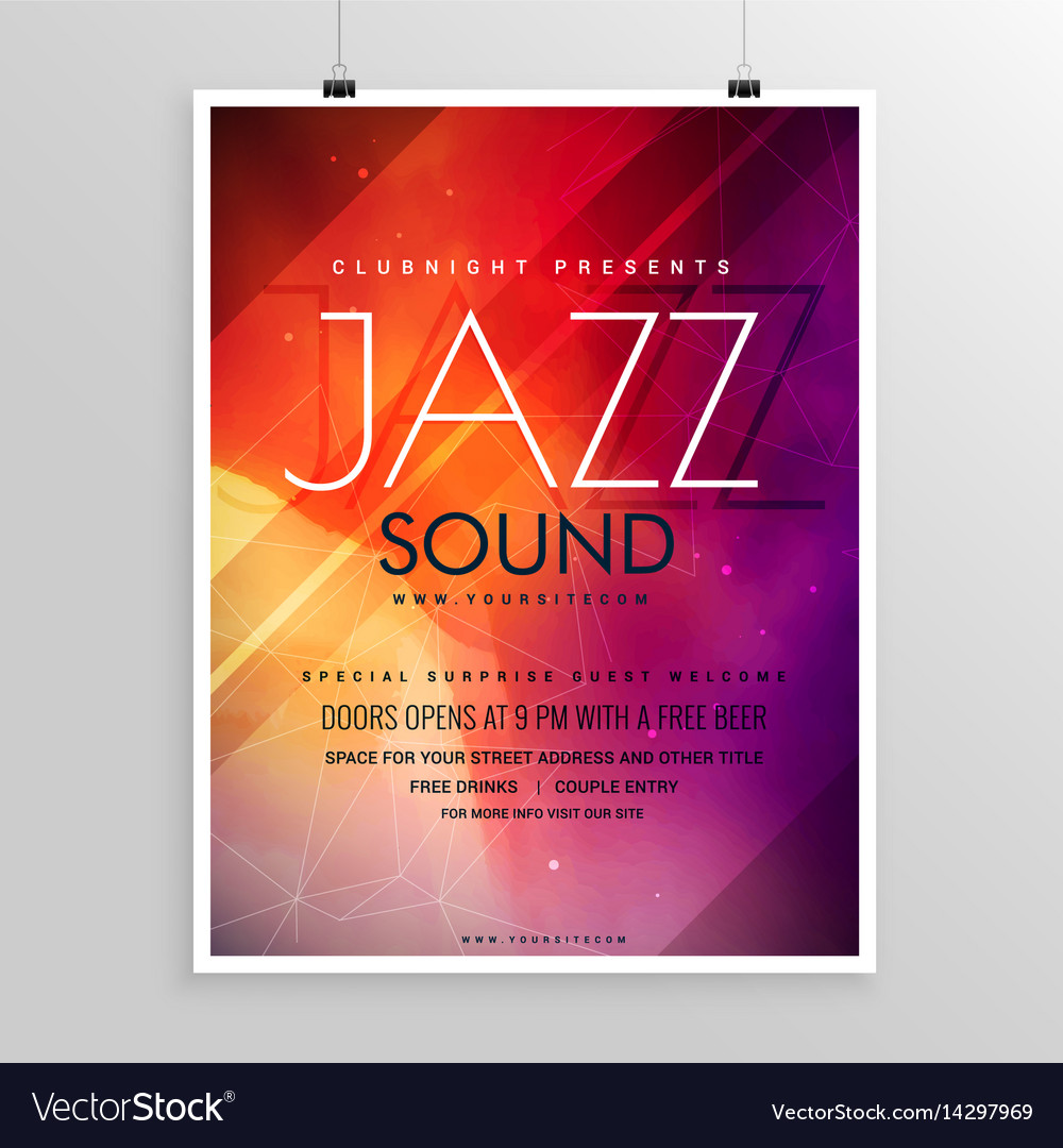 Music sound party flyer invitation template
