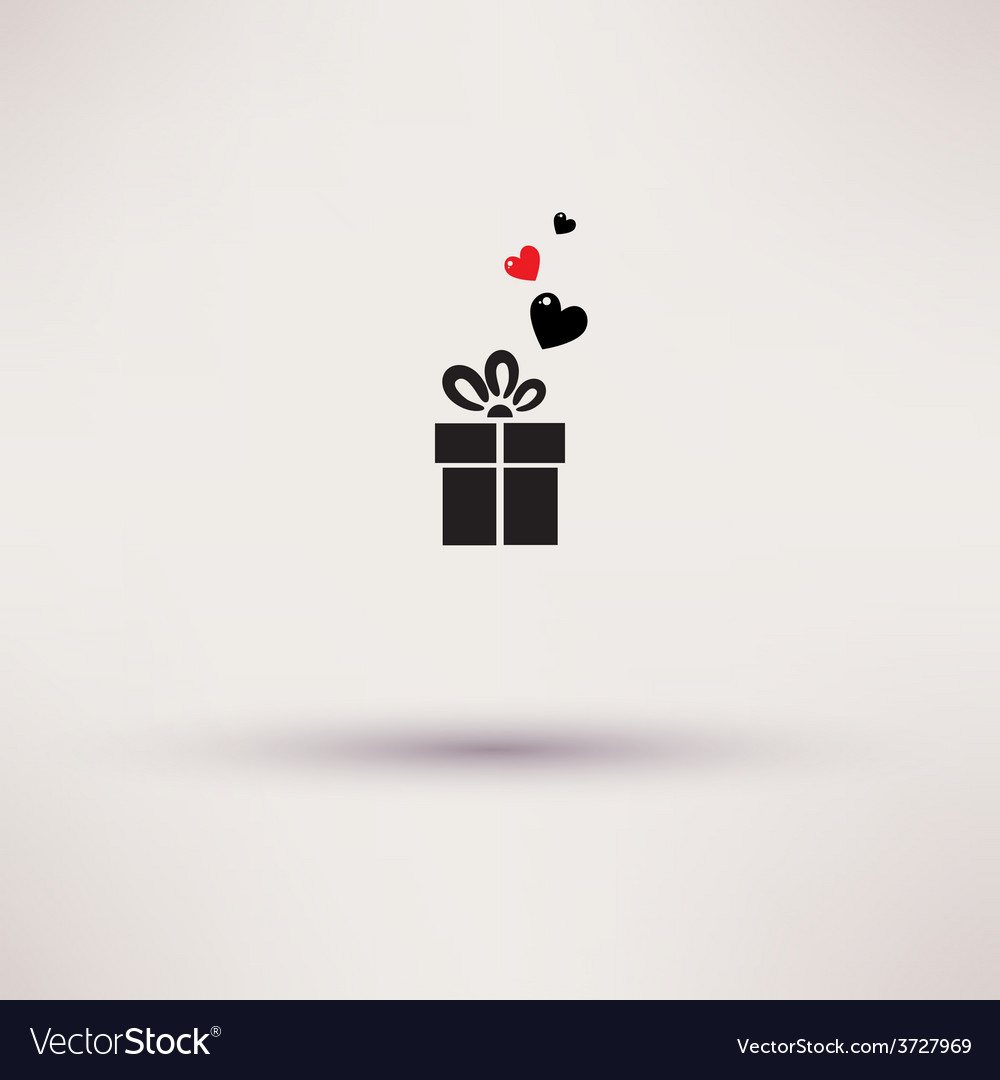 Pictograph of gift icon Template design
