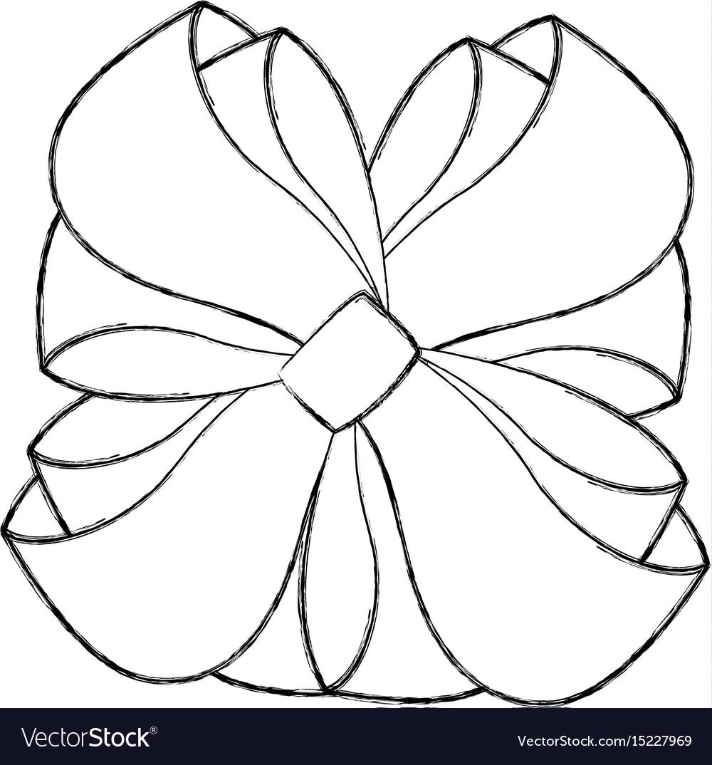 Christmas Cartoon Drawings.Sketch Draw Christmas Bow Cartoon