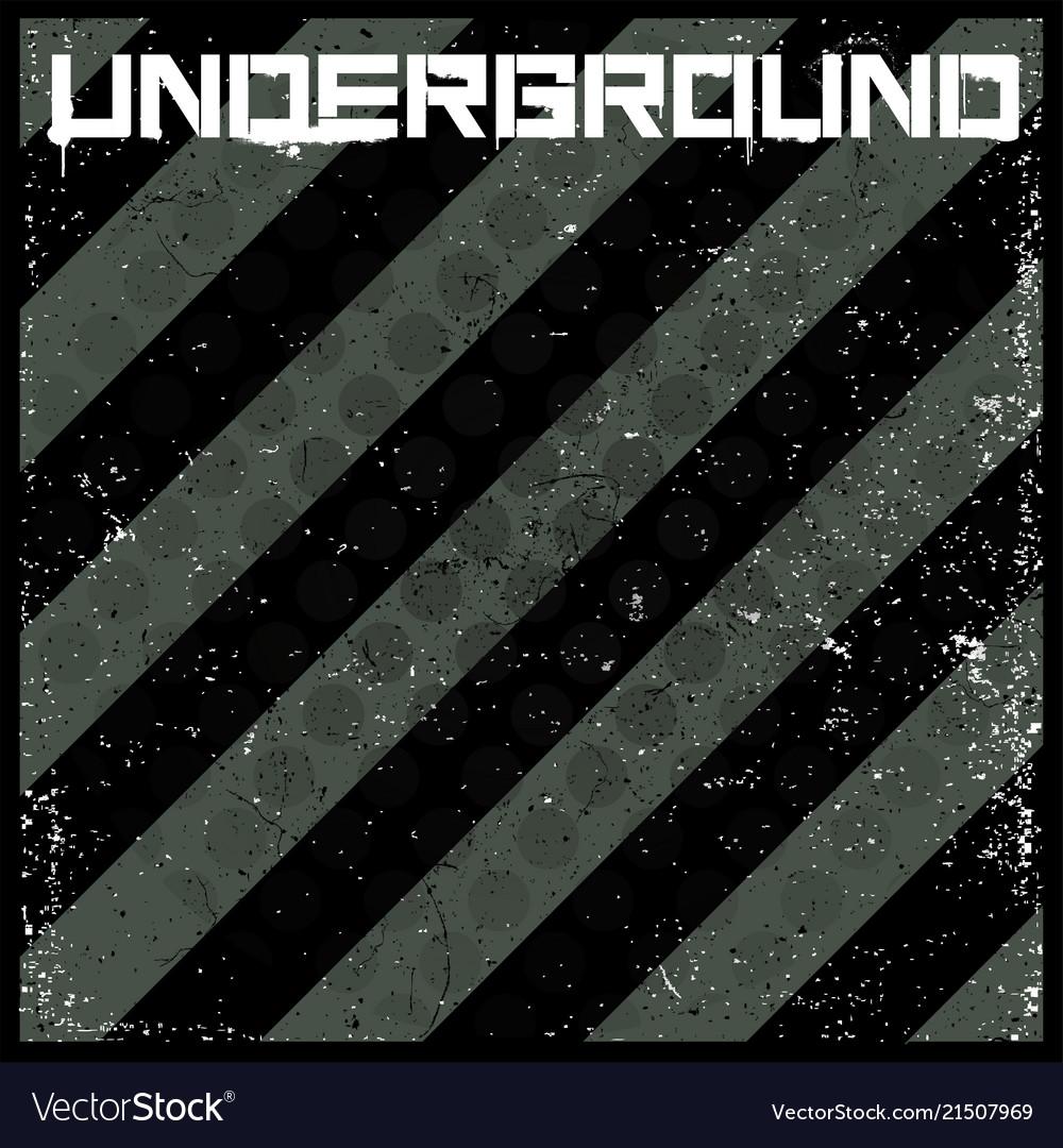Underground abstract background in grunge style