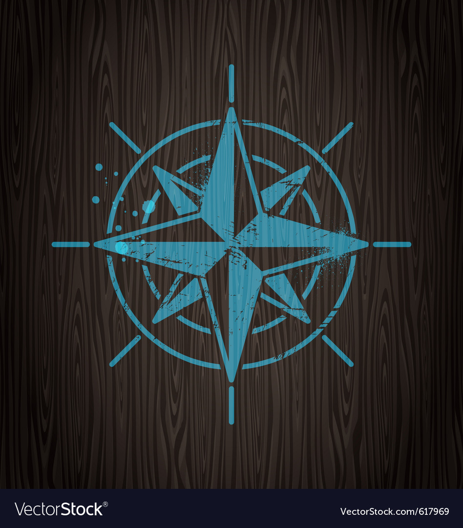 Vintage compass rose Royalty Free Vector Image