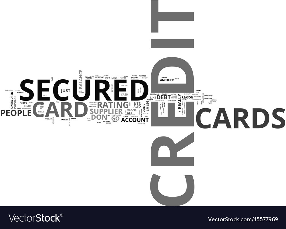 What do you mean by a secured credit card text