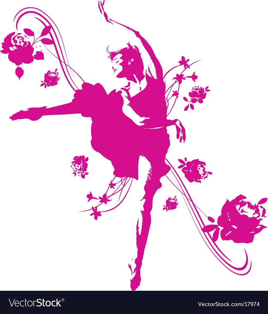Dancer graphic vector image