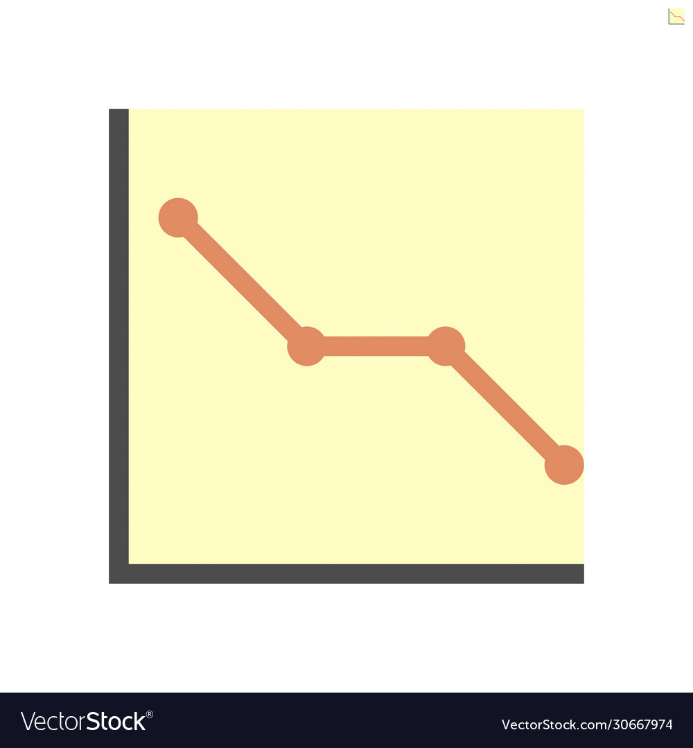 Graph shows lower results icon design48x48 pixel