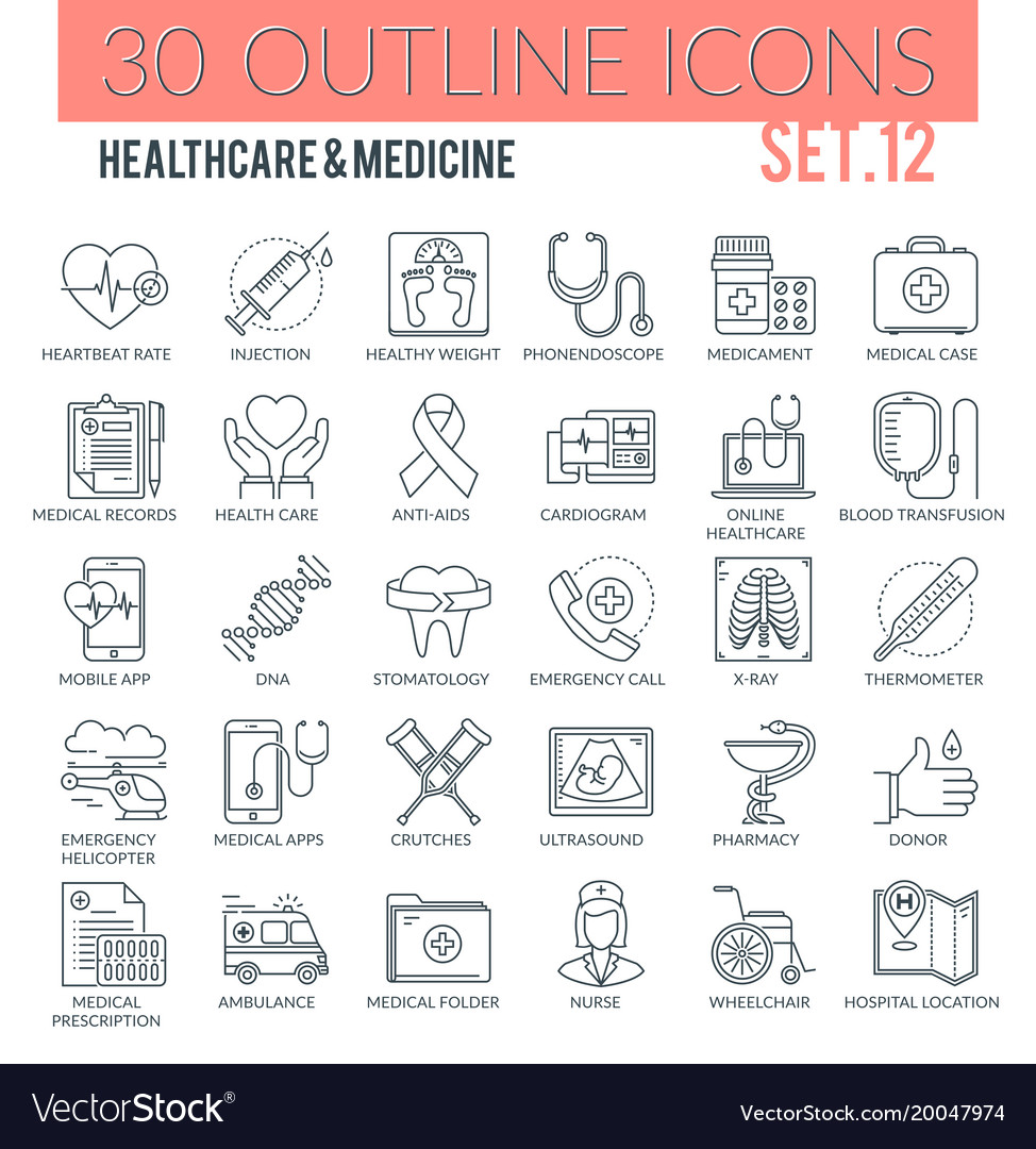 Healthcare medicine icons