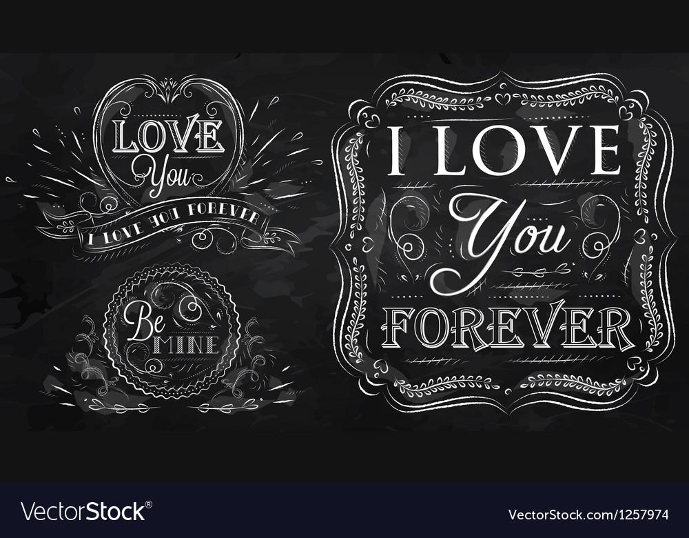 Love forever chalk vector image