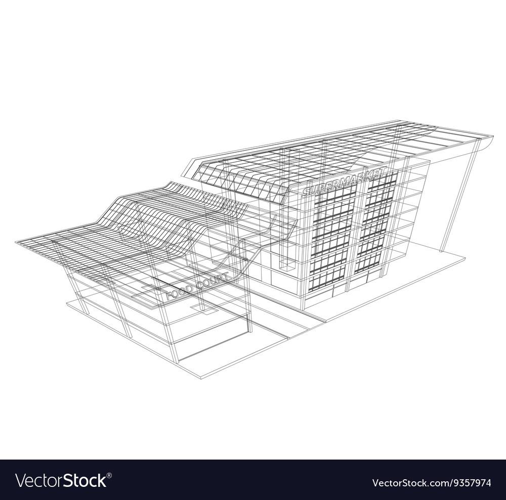 Supermarket wireframe
