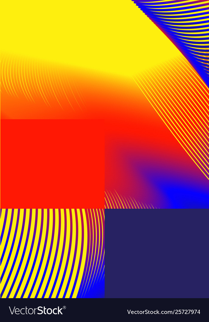 Universal trend gradient geometric poster