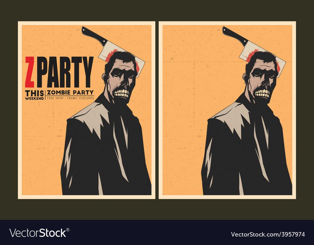 Zombie party invitation template royalty free vector image zombie party invitation template vector image stopboris Gallery
