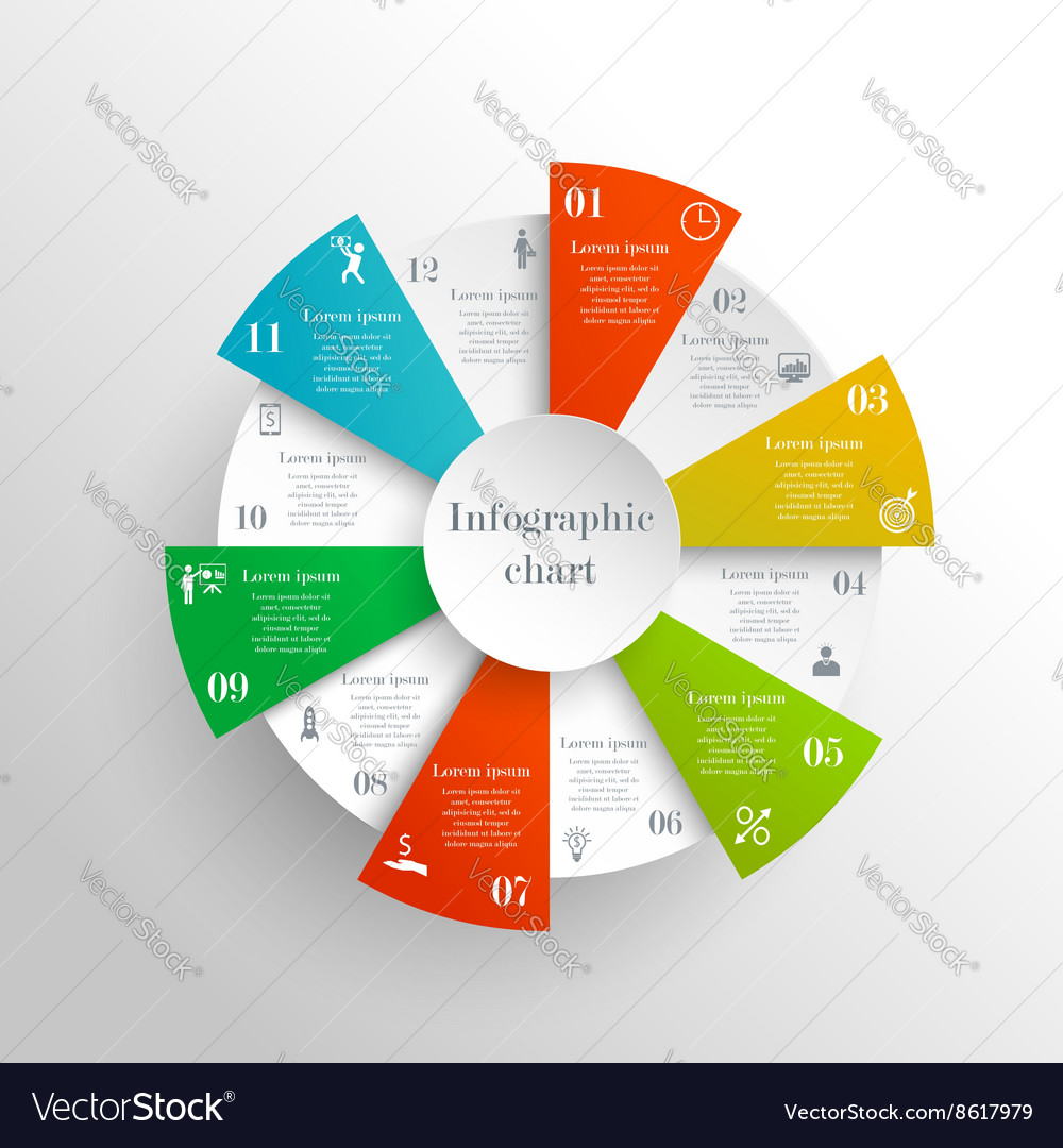 Abstract circle infographic
