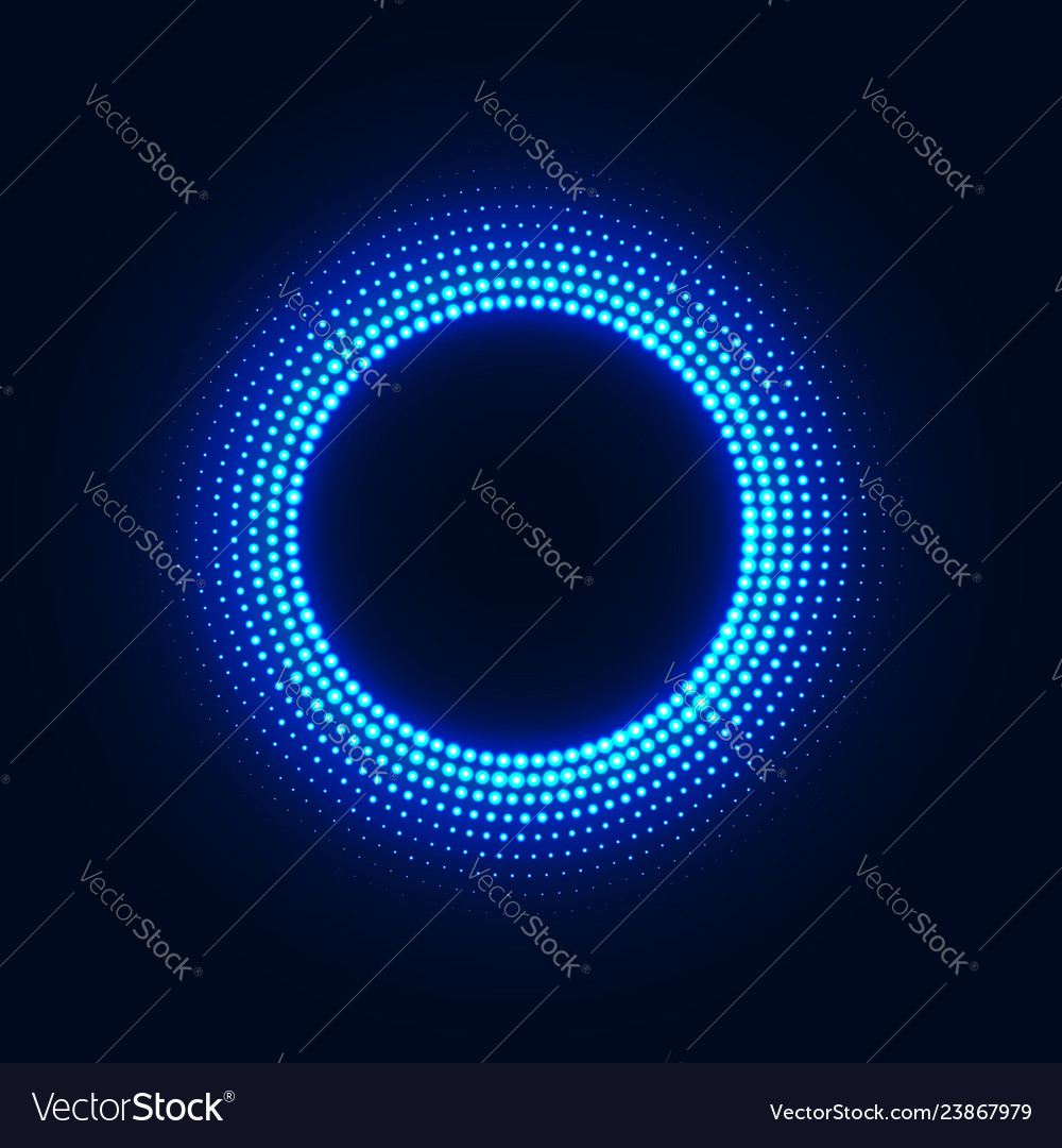 Abstract disco background with neon glowing