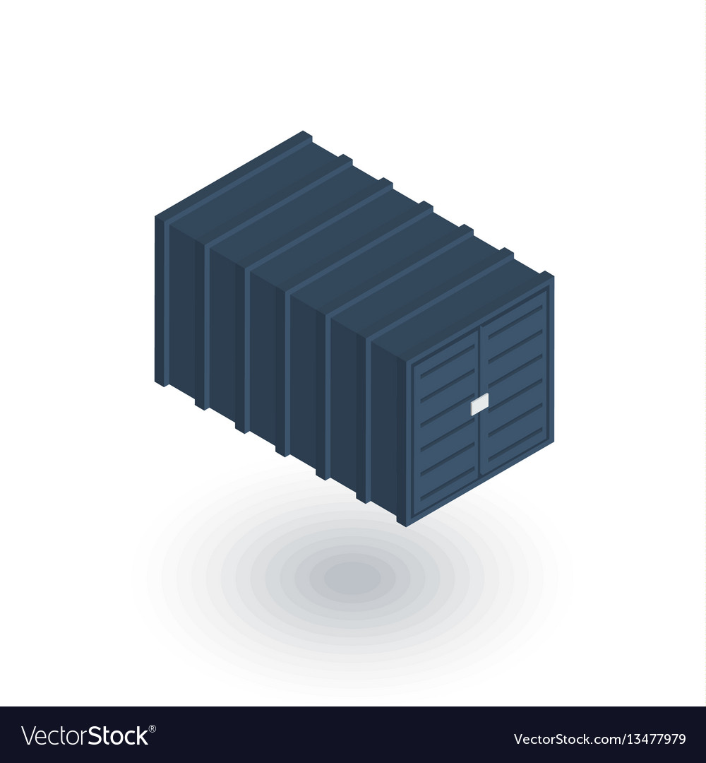 Cargo container isometric flat icon 3d
