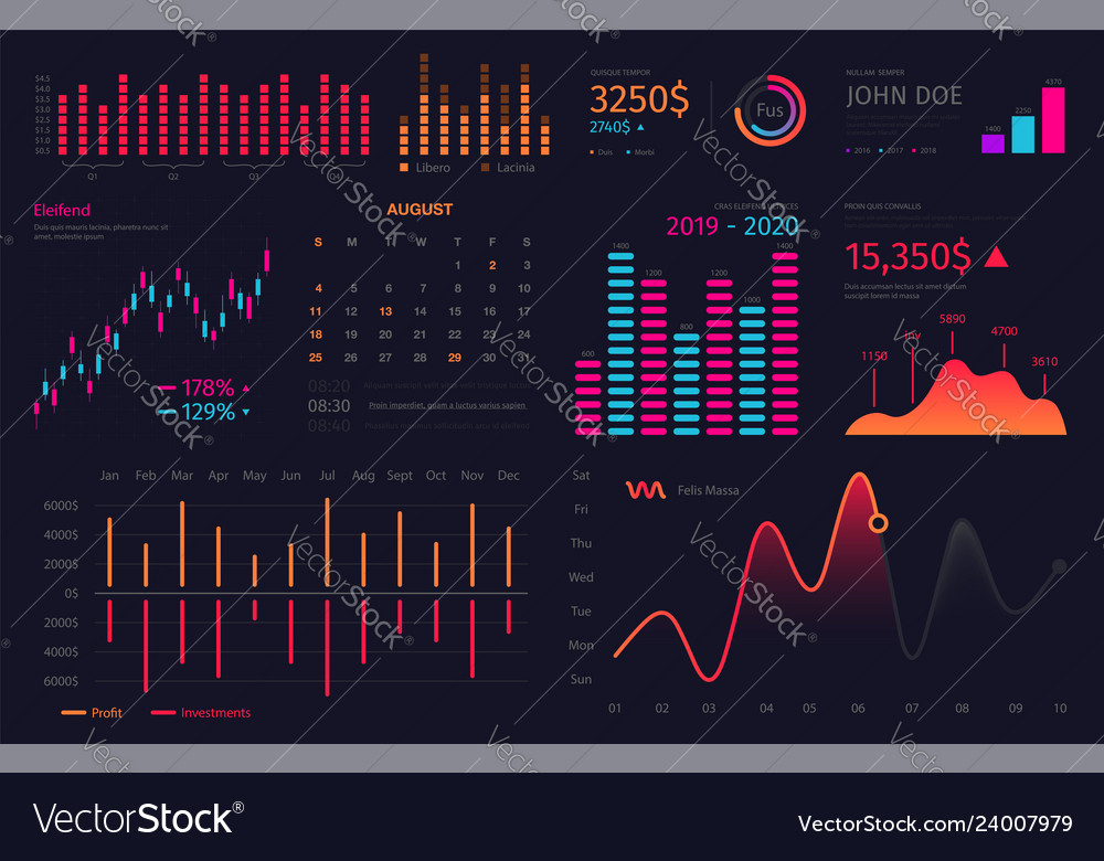 Infographic dashboard template data screen