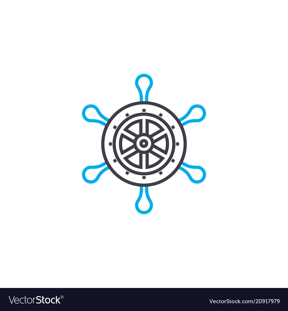 Sailing linear icon concept sailing line