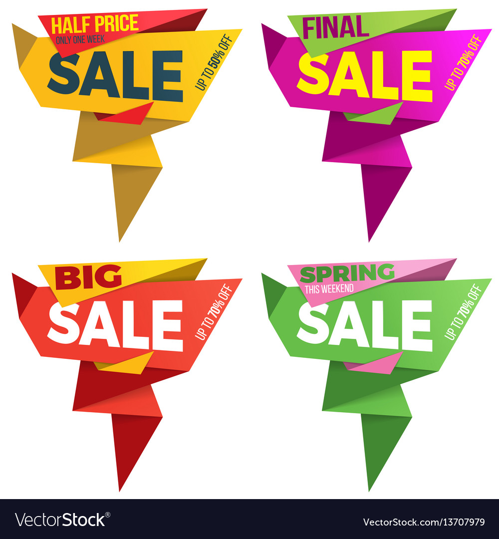 Sale label price tag banner badge template