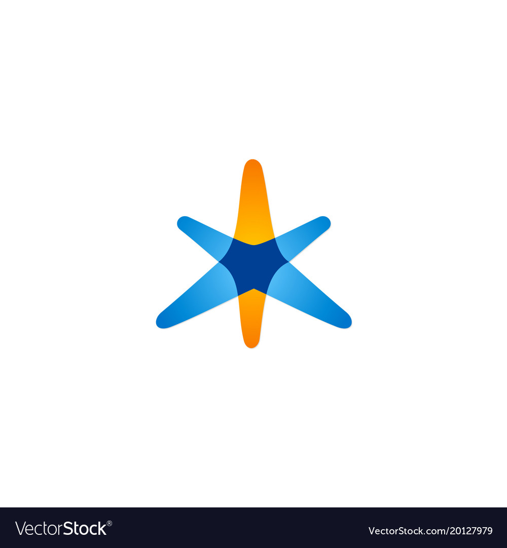 Star abstract colored logo