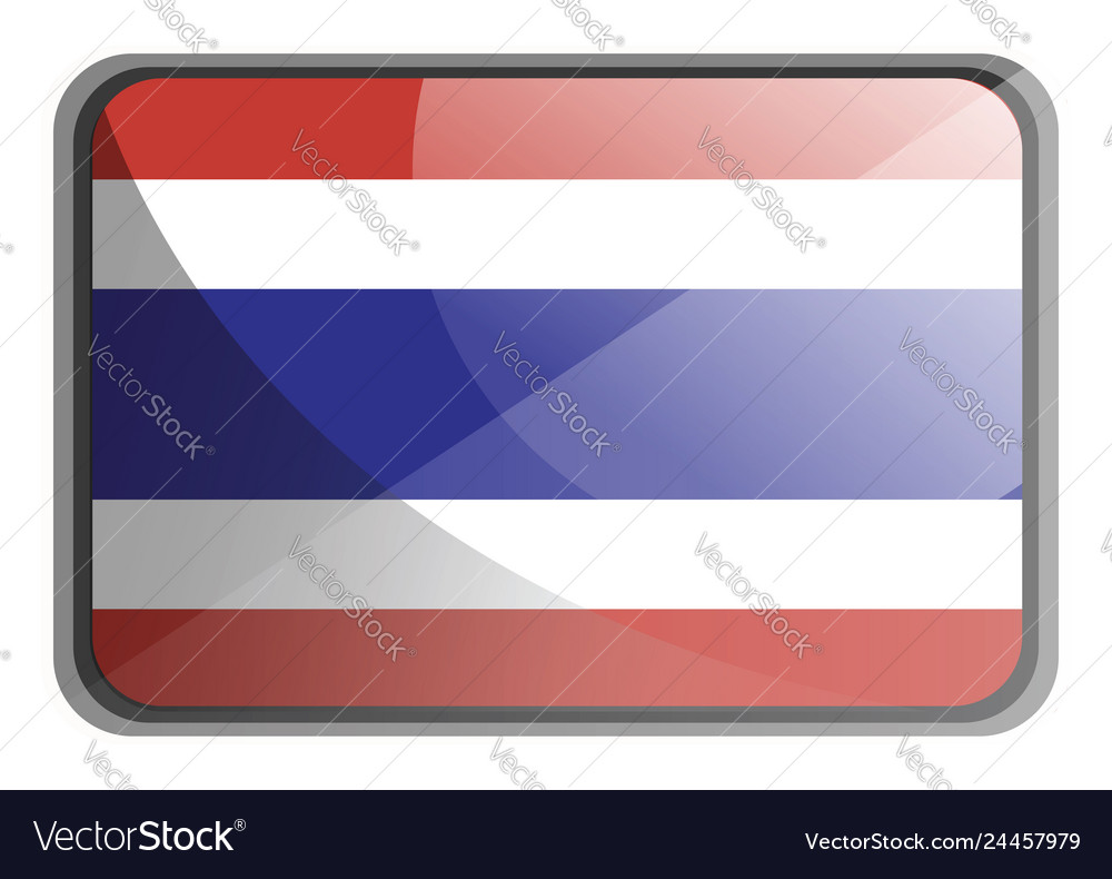 Thailand flag on white background