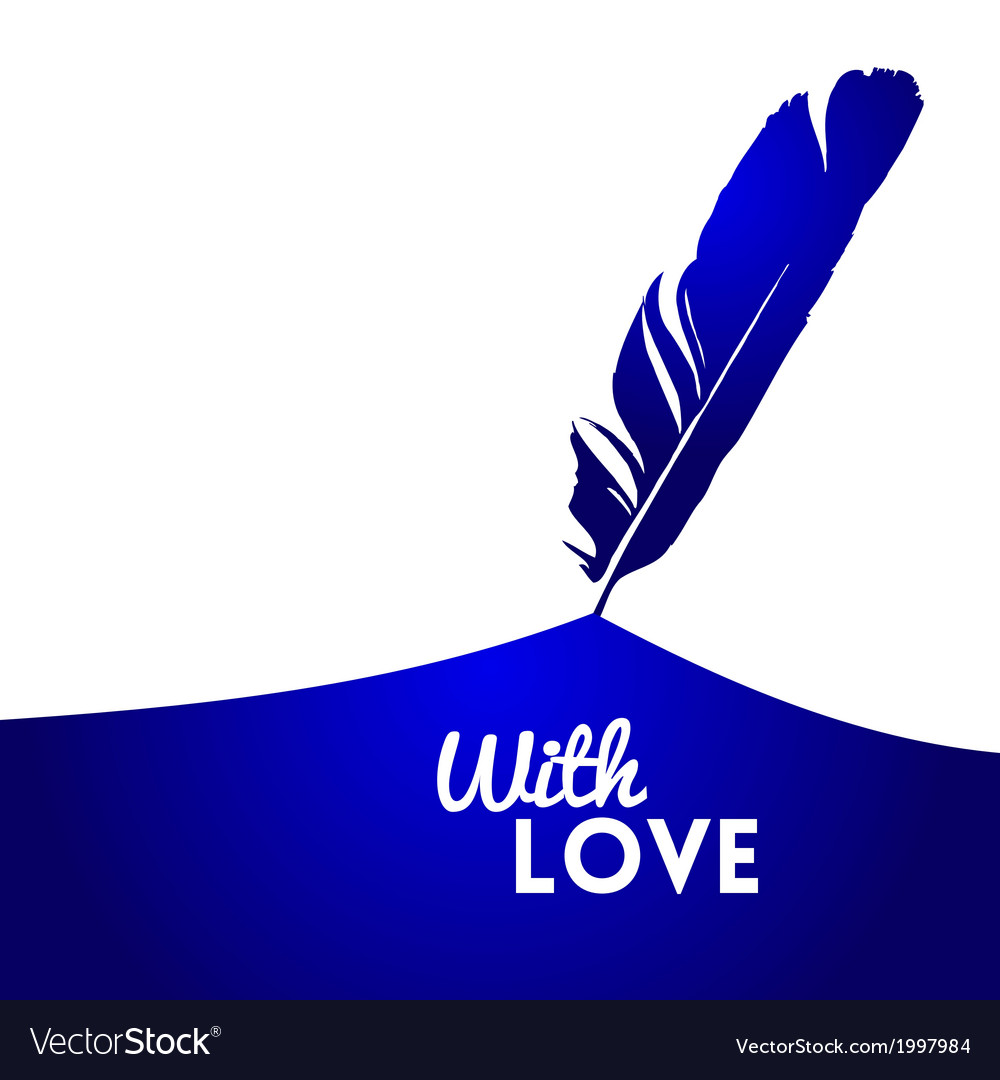 Background with blue feather