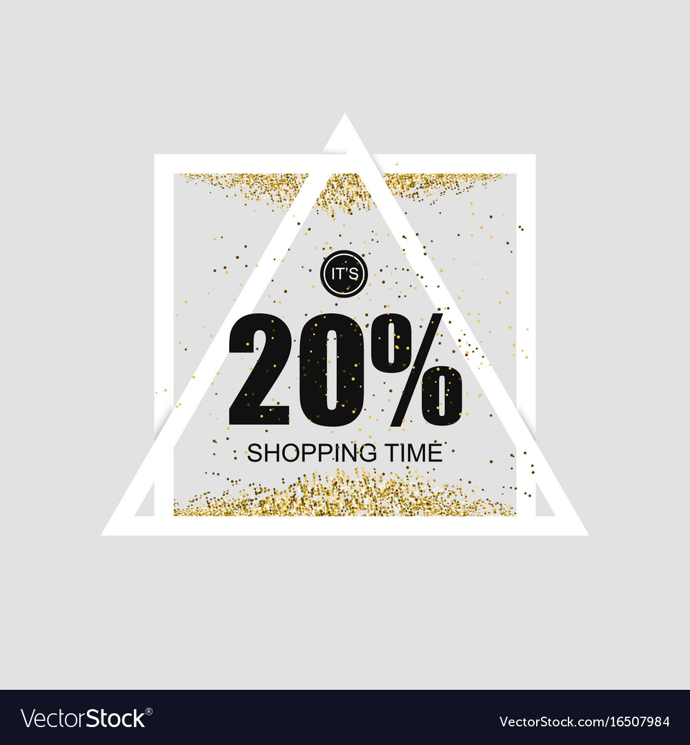 Bright shiny banner with super discounts for vector image