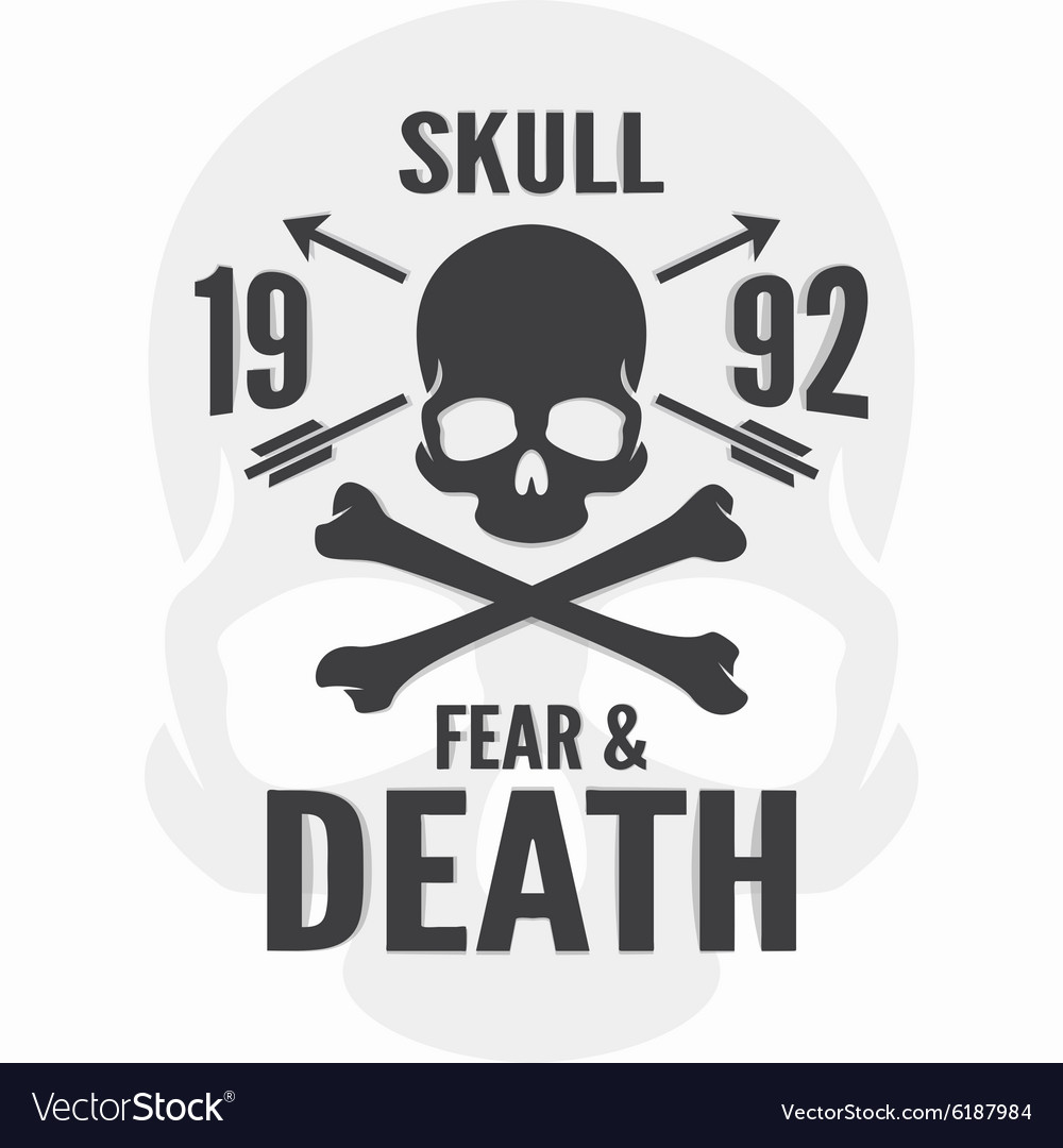 Fear and death print skull and cross bones logo