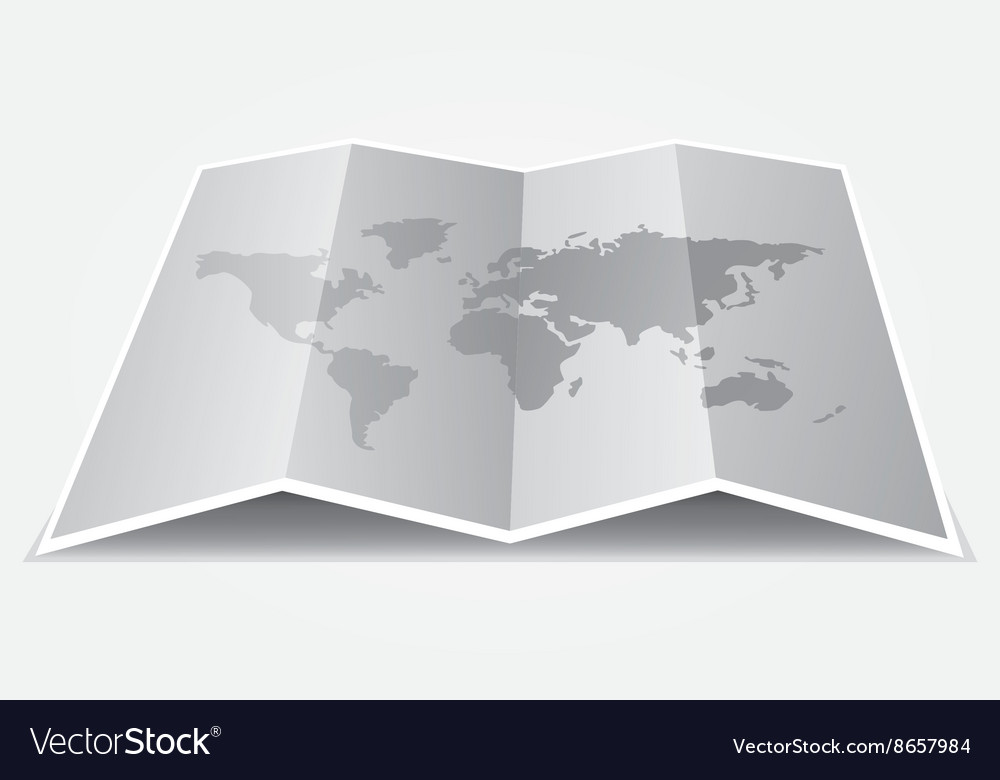 Grey world map on folded paper royalty free vector image grey world map on folded paper vector image gumiabroncs Images