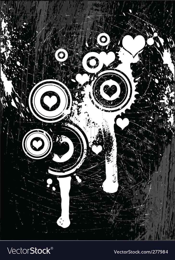 Grunge love vector image